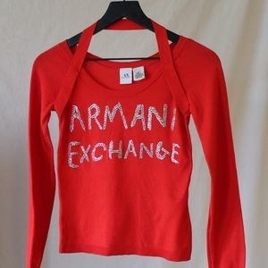 Y2K Armani Exchange Rhinestone Top